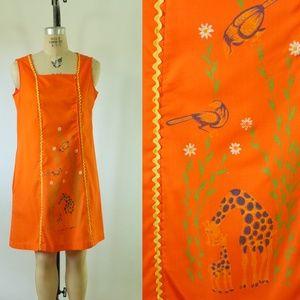 vintage house dress   vintage 1960s cotton dress